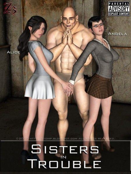 Monstro tarado, irmãs em apuros