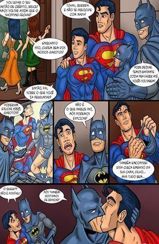 Superman e Batman fazendo sexo