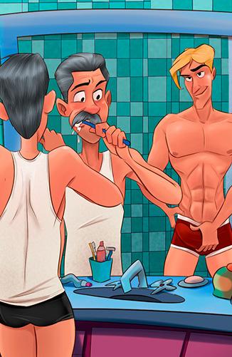 Incesto! Pai e Filho no Banheiro
