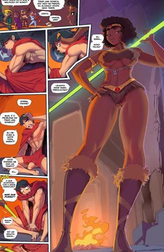 Caverna do Dragão Pornô: Acordando com boquete